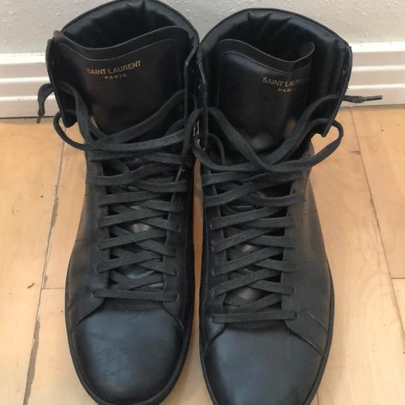 c8d3319c627 Saint Laurent Shoes | Mens 45 Black High Top Sneakers | Poshmark